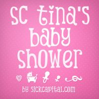 Tina's Baby Shower Free Font by KeepWaiting