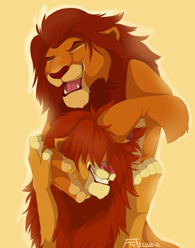 Simba and Mufy by Antrague