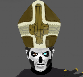 Papa Emeritus III wip by Empress-of-Dark