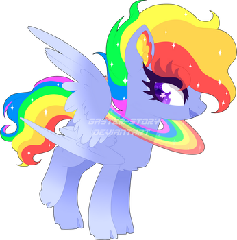 [CLOSED] Full Rainbow Pegasus Adopt by Gaster-Story