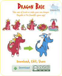 Make Your Own Dragon! Free Base works in ChumBits by CrownePrince