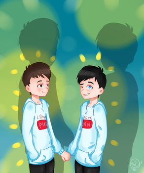 complimentary [phan] by oh-no-Castiel