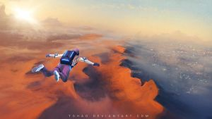 Base Jump on Mars by Tohad