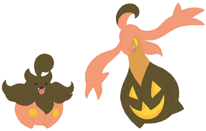 Pumpkaboo and Gourgeist Base by SelenaEde