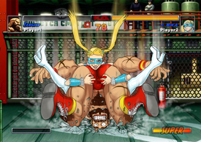 R.Mika VS Zangief Street Fighter Alpha by nicetarget