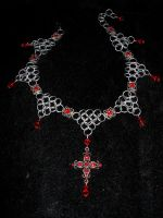 Red Cross Choker by whitefantom