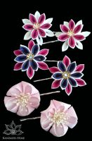 Tickled Pink - Kanzashi by Kanzashi-Hime