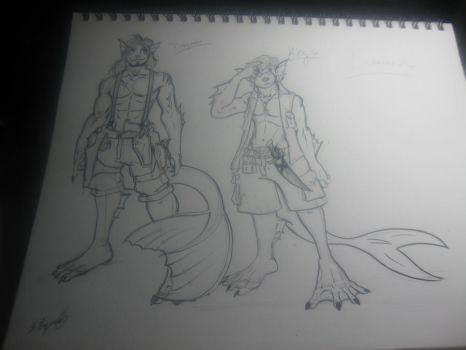 Dragomir and Keys - WIP by Ouchness