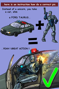 Anti-Robocop_on_Unicorn_pic2 by Silwerra