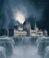 Floods - Hungarian Parliament by arthame