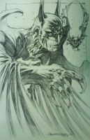 Batman sketch by harveytsketchbook
