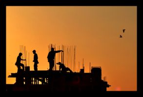 Workers in the heights IV by michref