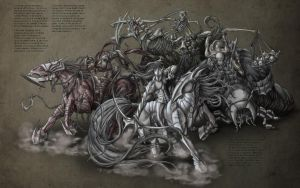Four Horsemen of Apocalypse by bigTaki