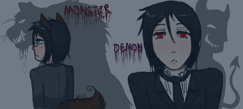 The MONSTER and the DEMON by Jiji-da-cool