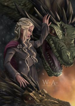 Dragon Mom feat Viserion and Rhaegal by ArtofWeiHan