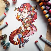 Alexstrasza from World of Warcraft by Tofusenshi