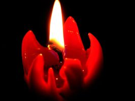 Red candle by Tigerente-in-love