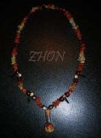 Fire Fox Necklace by Zhon