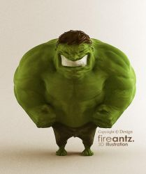 FastSketch - HULK to 3D by fireantz83