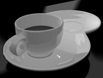 a cup of coffee by sh4dow