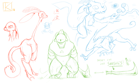 Creature sketches II by Kay950