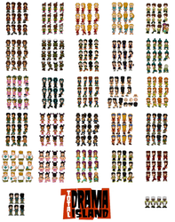 Total Drama Sprite Sheets DONE by SWSU-Master