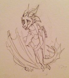 Silverwind (Simple Sketch) by WildPacksArt