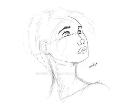 GirlSketchPractice by SEspider