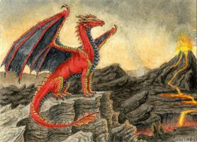 Hellfyre ACEO by Strecno