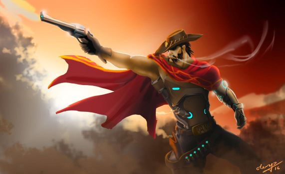 Overwatch McCree by Dhaelos