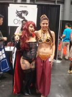 NYCC 2014 - Slave Leia and ??? by ShawnAtkinson