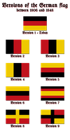 Versions of the German flag by Kristo1594