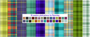 30 Seamless Plaid Patterns by CIRQUAN