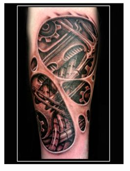 Biomechanical underskin tattoo by kayden7