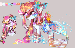 Sea themed pony AUCTION (OPEN) by KawaiiCaniball