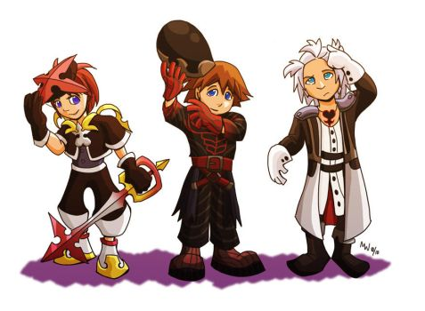 KH: BBS - Scary Costumes by LynxGriffin