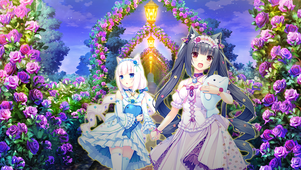 Chocola and Vanilla in Garden of Roses! by Seira-Hirano