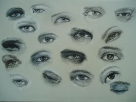 pastel pencil eye drawings by blackblacksea