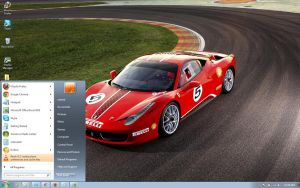 Ferrari-458-Challenge windows 7 theme by windowsthemes