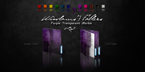 Purple Windows 7 Folders by Drawder