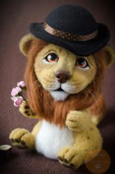 Lion Needle Felted by Lyntoys