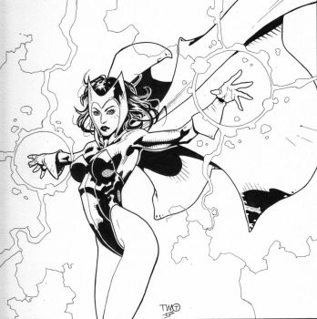 Scarlet Witch inks by JosephLSilver