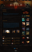 Diablo 3 Fansite Template by NicotineLL