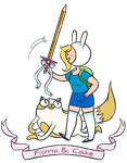 Fionna and Cake by HomestuckFanPoop