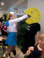 Animecon V cosplay: Pacman by Kata-elf