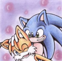 Sonic and Tails-Like Brothers by LostDreamer92