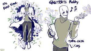 Gaster And Lily by nogoojing