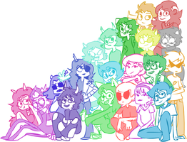 Homestuck Pile by HiyaJinxx