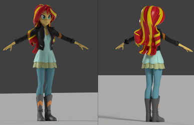 New Sunset Shimmer WIP by Sindroom