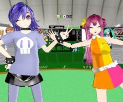 MMD Ami and Yumi by PUFFYlover5